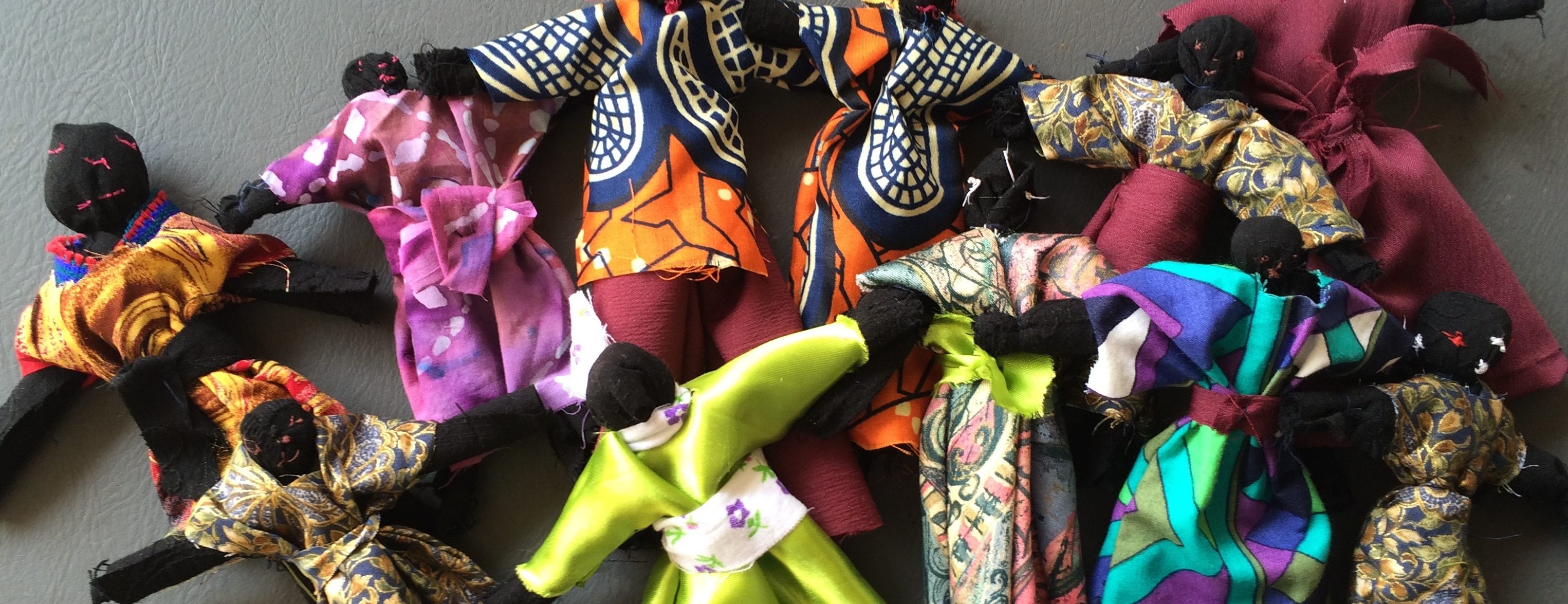image of handmade dolls produced in an ukuthula project